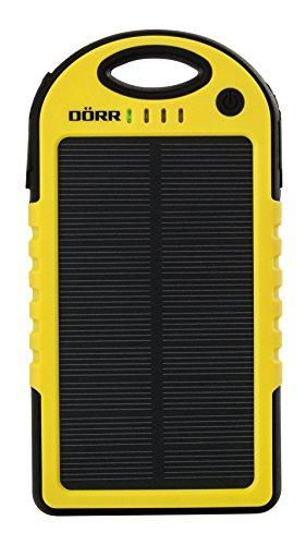 Dörr Solar Powerbank SC-5000 leistungsstarke und Mobile Energiequelle für Smartphone/Tablet/Navigationssysteme/MP3-Player/Kamera 5000mAh/5V (25Wh) schwarz/gelb