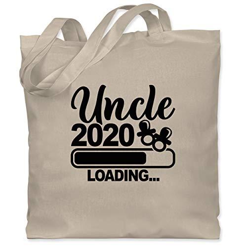 Shirtracer Bruder & Onkel - Uncle 2020 loading mit Schnullern - schwarz - Unisize - Naturweiß - Onkel loading - WM101 - Stoffbeutel aus Baumwolle Jutebeutel lange Henkel