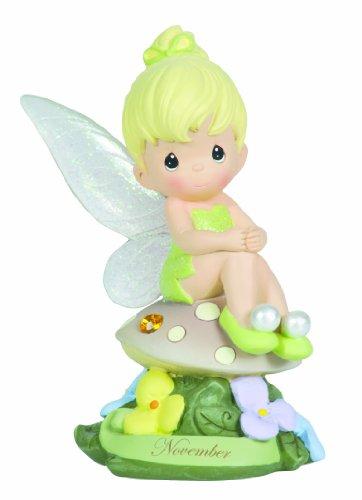 Precious Moments, Disney Showcase Collection, November Fairy As Tinker Bell, Resin Figurine, Yellow Topaz, 113218