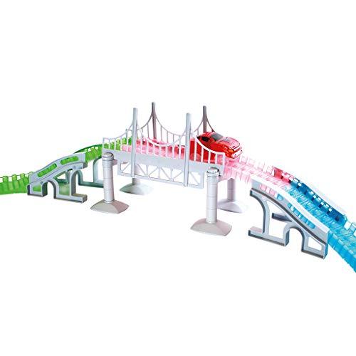 Pont Magic Tracks | Idéal pour les circuits de course enfants | Accessoires de voiture pour circuit | Petite voiture 3 ans | Set d'accessoires de démarrage Magic Tracks