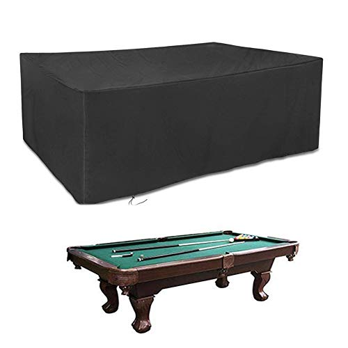 LHR Tarpaulin Waterproof Heavy Duty Garden Furniture Covers Pool Table Sofa Cover Dust-proof Anti-UV Tear Resistance Outdoor Terrace Oxford Cloth 32 Size (Color : Black, Size : 100x60x150cm)
