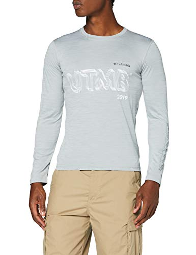 Columbia Zero Rules, Haut à Manches Longues, Homme, Gris (Columbia Grey Heather), M