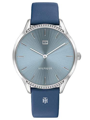 Tommy Hilfiger Damen Analoger Quarz Uhr mit Leder Armband 1782213