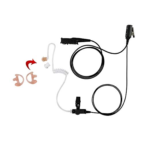 Great Price! Earmold with 1-Wire Clear Coil Surveillance, Compatible With Motorola XPR3500 XPR3000 D...