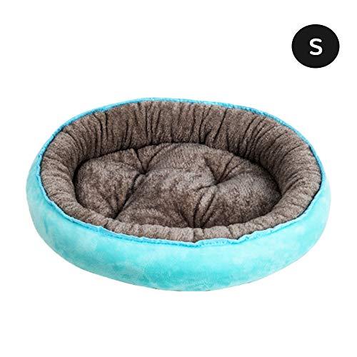 NIBESSER Hundebett Waschbar Runde Hundekorb für kleine Hunde Katzen Weiche Plüsch Hundekissen