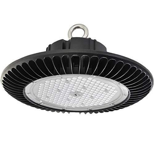 Sylstar UFO LED Hallenstrahler, 200W 6000K LED Hallenbeleuchtung 0-10V Dimmbare Industrielampe 140 lm/W Hallenbeleuchtung IP65 Hallenleuchten für Innen- und Aussenbereich, 5 Jahre Garantie