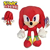 Sonic - Peluche Knuckles The Echidna 11'40'/29cm Color Rojo Calidad Super Soft