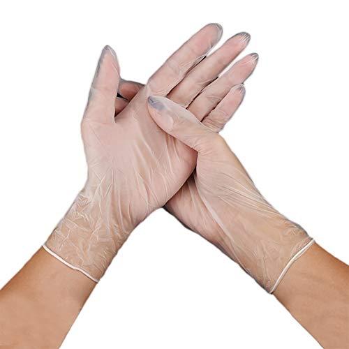XQxiqi689sy Hygiene-Schutzhandschuhe für Küche, Kochen, Reinigung, 100 Stück L Clear#