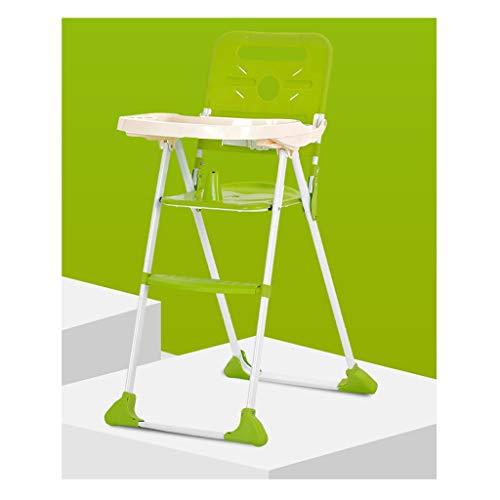 Kinderstoel met veiligheidsriem, kinderstoel lade draagbare hoge stoel en Booster Groen