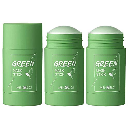 2PCS Green Tea Purifying Clay Stick Mask, Face Moisturizes Oil Control, Deep Clean Pore, Improves Skin,for All Skin Types Men Women