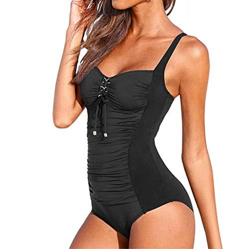 ZODOF Mujer Bikinis Dividida Traje de baño Tops de Bikini Tangas Playa Conjunto de Bikini Bañadores Bikini Profundo de Tres Puntos Bikinis Push up