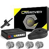 CAR ROVER Auto inversione di Sostegno Sensore di Parcheggio Kit 4 sensori Radar con Buzzer Allarme(d'Argento)