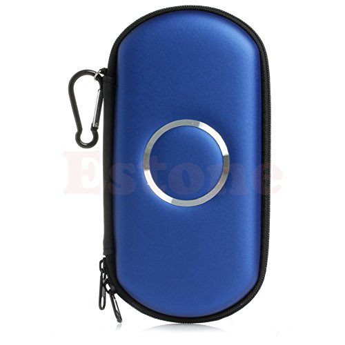 Amrka Slim Travel Carrying Hard Cover Case Pouch Protector for Sony PSP 2000 3000 (Blue)