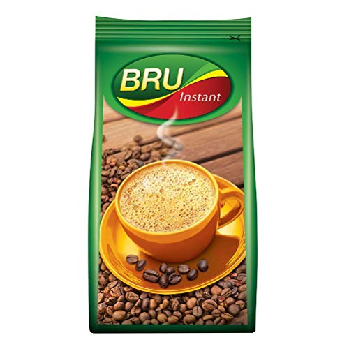 BRU Instant Coffee Powder 200g Pouch, Roasted Arabica & Robusta Ground Coffee Beans From South India - Rich & Strong Blend Of...