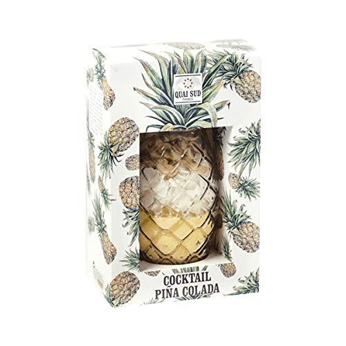 Cristal Piña cóctel con ingrédients para Pina Colada Préparation