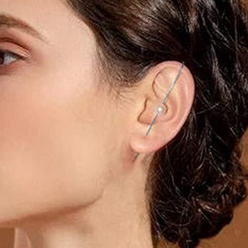 nilaogen Store 1 pcs Dainty Alloy Rhinestone Ear Wrap Crawler Hook Earrings, Clip On Earrings for Women, Silver