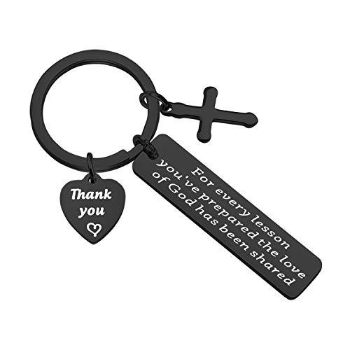 BAUNA Sunday School Teacher Gifts Religious Teacher Keychain