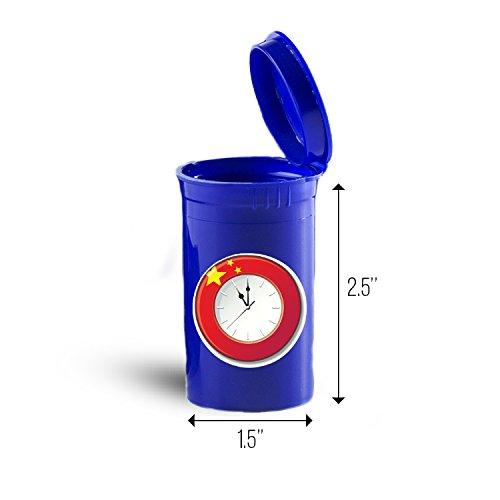 Price comparison product image China Clock Flag Storage Organizer Bin for Vitamins ID 8298B