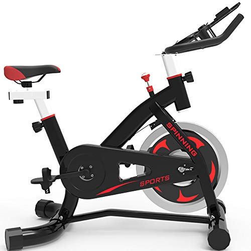 FGONG Indoor Cycle, Spin Indoor Cycle Für Zuhause, Fitnessbike & Heimtrainer Inkl. Leiser Riemenantrieb Nutzergewicht Max 150Kg,Schwarz