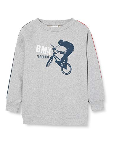 Fred's World by Green Cotton BMX Free Ride Sweatshirt Sudadera, Greymarl pálido, 110 para Niños