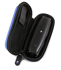 CLOUD/TEN Aromatherapy Case fits the Grenco G Pen Elite , Pulsar APX V2 or Vapium Summit+ for ground material with cleaning brush , screens and more – DOES NOT INCLUDE AROMATHERAPY DEVICE BLUE Durable EVA Shell is water-resistant while the interior h...