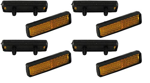 P4B | 8X Reflektoren für Fahrrad Pedale | Zum Einklicken | StVZO zugelassen | Pedal Reflektoren