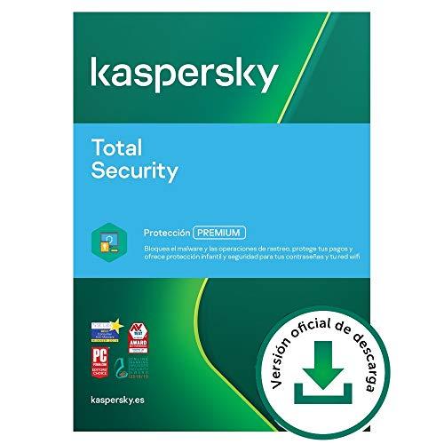 Kaspersky Total Security 2021 | 2 Dispositivos | 1 Año | PC   Mac   Android | Código de activación vía correo electrónico