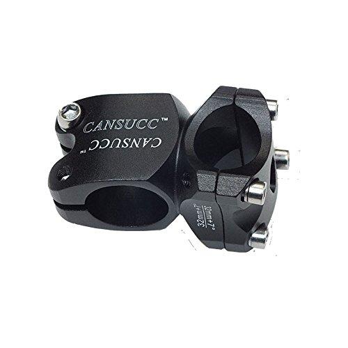 Fomtor, Lenkervorbau, 25,4 x 32 mm, für Mountainbike, geeignet für Rennräder, MTB, BMX (Schwarz, Aluminiumlegierung)