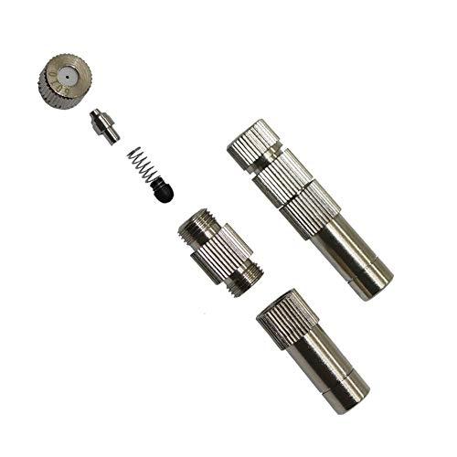 Impact Resistant Hose Compatible Accessories Low Pressure Fog Mist Nozzle with Filter Copper 0.2-0.6mm Slip Lock Quick-Connect Nozzles Agriculture Cooling Sprayer 1 Pc (Color : 0.5 mm Mist)