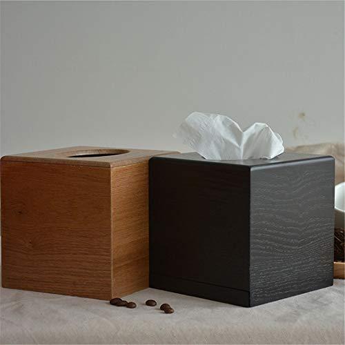 13 Yan Min Jian Cai Creative Bookbox Home Living Room Tissue Box Tovagliolo Scatola per fazzoletti di Carta Scatola da Toilette in Legno Quadrato Nero 13 13CM