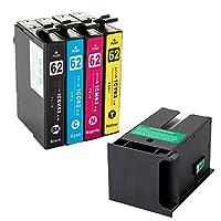 IC4CL62 エプソン互換インクカートリッジ EPSON互換 IC62シリーズ IC4CL62 4色セット+メンテナンスボックスPXMB3 1個 ベンチャートナー