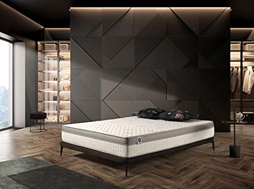 Naturalex | Extravisco | Matratze 160x200 cm | Hochkomfortables Memory Multischicht Latex HR | Sommer- Winterseite 7 Zonen | Beste Ergonomische Unterstützung | Ultra Atmungsaktiv und Entspannend