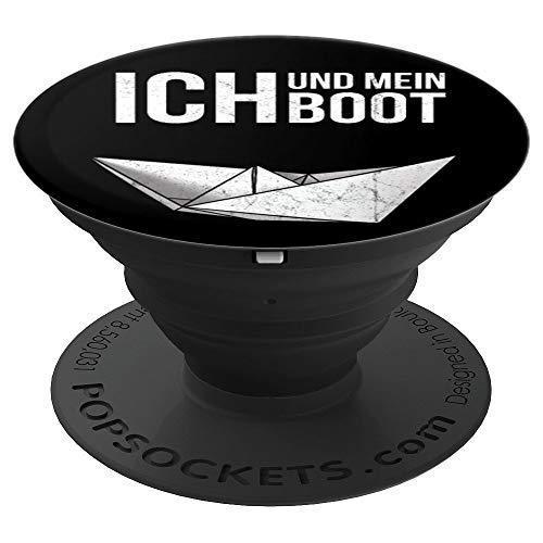 Ich und mein Boot | Faltboot Kapitän Modellbau - PopSockets Ausziehbarer Sockel und Griff für Smartphones und Tablets