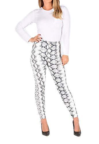 Islander Fashions Damen Leopard und Schlange gedruckt Minirock Legging Body und figurbetontes Kleid Snake Print Legging Medium/Large