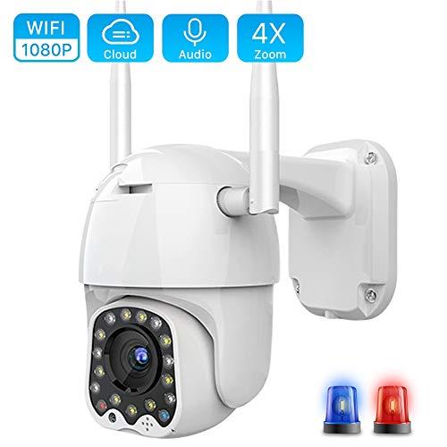 Cloud 1080P Wifi Camera Outdoor 2MP Auto Tracking Home Security Ip Camera, Waterdicht Nachtzicht Bewakingssysteem Bewegingsdetectie, Activiteitswaarschuwing, Afschrikalarm,128g
