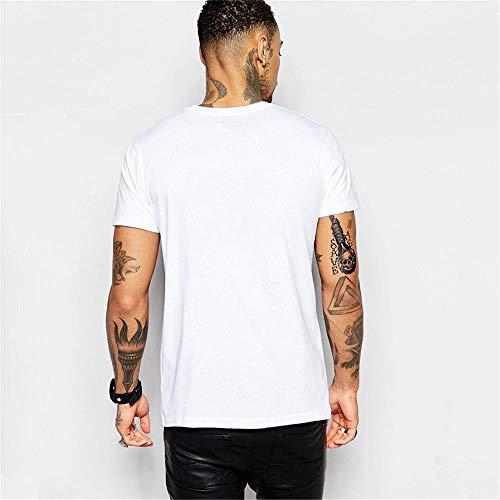 Guomao 2019 Printemps Col Rond Été Impression à Manches Courtes T-Shirt Rainbow Féroce panda print shirt, blanc, Small