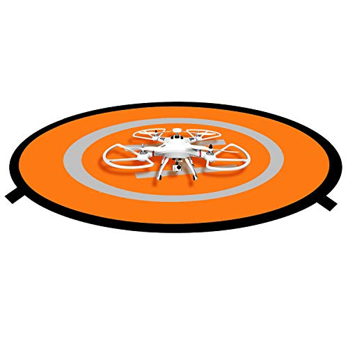 Drone Landing Pad, STRAWBLEAG 30in Universal Drones and Quadcopter Accessories Landing Pad, Foldable Waterproof Helipad for DJI Phantom 2/3/4/Pro, Mavic AIR/2/2 Zoom/Pro, with Portable Storage Bag