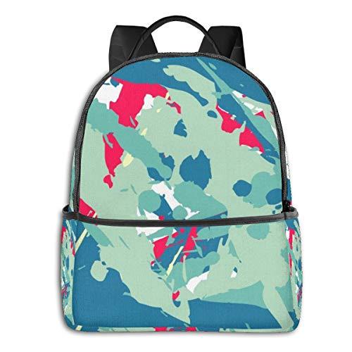 FONDSILVER Fondilver Bunte abstrakte unscharfe Farbe, Tintenstrahldrucker, Schulranzen, Studenten, Buchtasche, Laptop, Aypack für Jungen Mädchen und Teenager