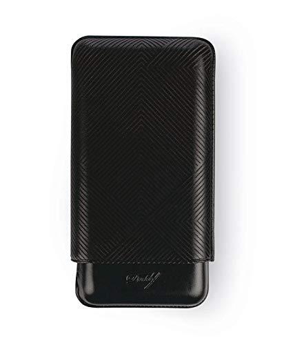 Davidoff Cigar Case XL- 3 Leaf Black
