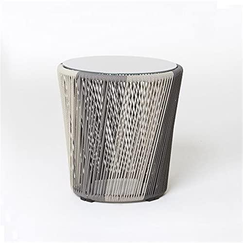 HAQTXI Sillas de ratán de sintética Tejidas al Aire Libre con Cojines, sillón de Marco de Aluminio Adecuado para Patios y Balcones Sillón (Color : C)