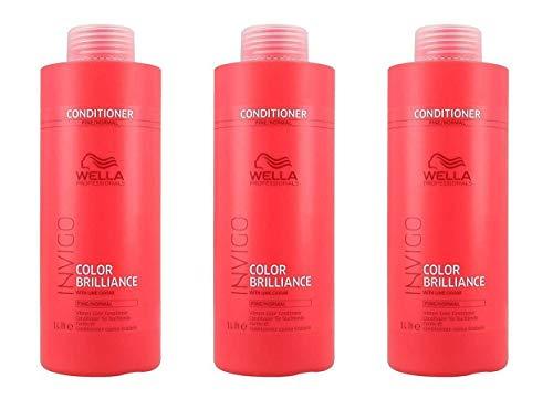 Invigo Color Brilliance - Acondicionador de color, 3 unidades, 1000 ml