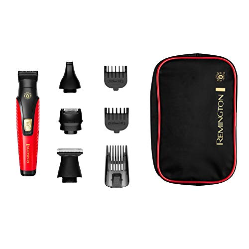 Remington G4 Manchester United Edition Cordless Personal Electric Shaver, All-in-1 Beard, Body and Stubble Trimmer, PG4005