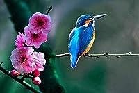 大人のための大きな鳥の木製ジグソーパズル1000個の風景花と鳥家の装飾の写真ホリデーギフト部屋の装飾の写真クリスマスギフト