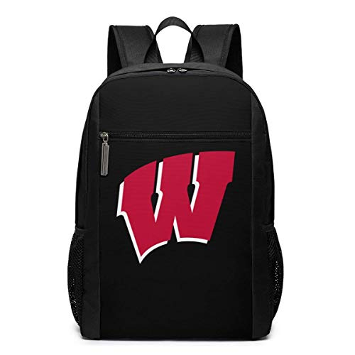 ZYWL Wisconsin University Premium 17-inch Travel Laptop Backpack, Bookbag, Business Bag