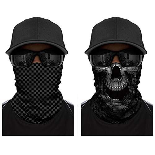 ECOMBOS Multifunktionstuch - Bedrucktes Schlauchtuch Bandana Face Shield Gesichtsmaske Halstuch Qualitäts Bandana, Ski Motorrad Paintball Maske