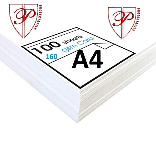 100 x Vellen A4 Premium Sneeuwwitje Printer Craft Card Decoupage 160 grams