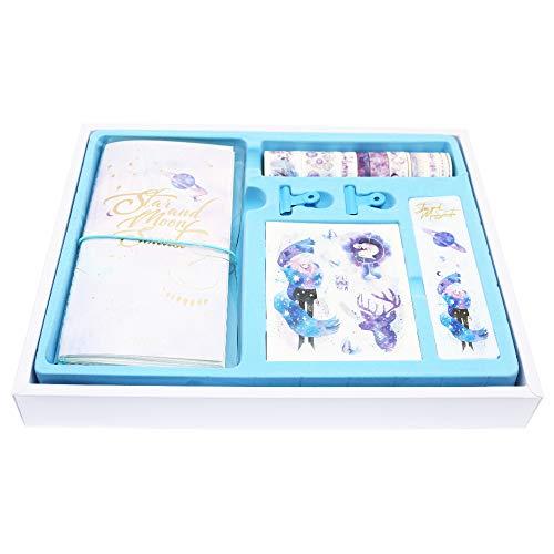 BITEYI Bullet Journal set,Washi Tapes,Adesivo Decorazioni Colorato per Scrapbook,Diari (Cielo stellato)
