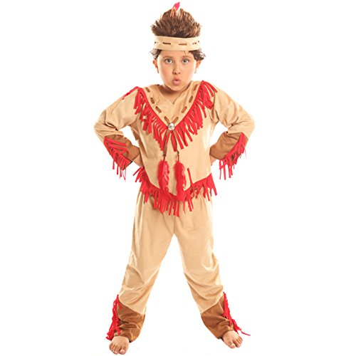 Disiao Navajo Warrior Costume for Boy Halloween Party Cospaly Suits (M)