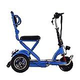 *YHXJ Escúters Discapacitats, Escúter Elèctric 3 Rodes, Ajust De 3 Velocitats, Seient Ajustable, Segur I Còmode, Apte per a Persones Majors I Discapacitades *Blue-*25km