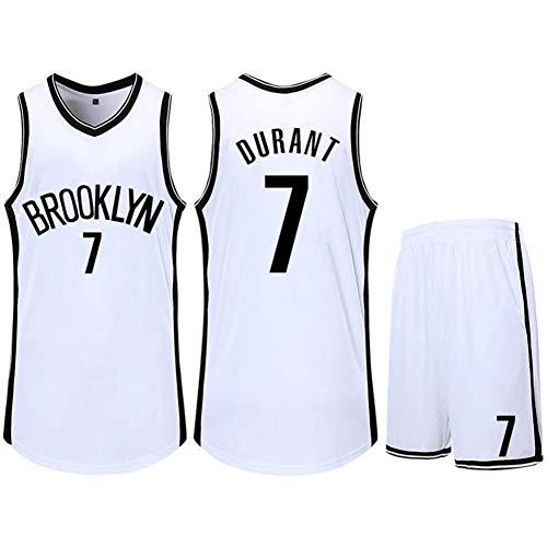 QAZWSX Uniforme de Baloncesto Brooklyn Nets # 7, Camiseta de la Kevin Durant Summer Sports, Uniformes de Baloncesto para Adultos y niños, Camiseta de Baloncesto (incluidos Pantalones Cortos)